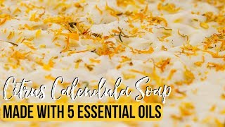 Soap with 5 Essential Oils - Citrus Calendula | Royalty Soaps