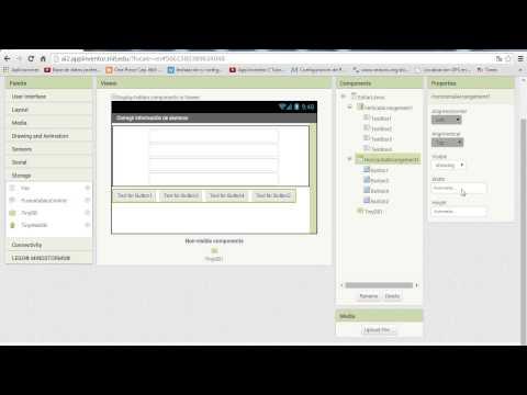 App inventor Insertar, eliminar, modificar, buscar, spinner en app inventor parte 1