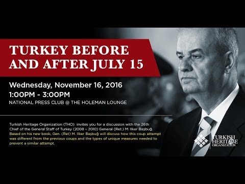 A Discussion with Former Turkish Chief of the Gen. Staff, Gen. (Ret.) İlker Başbuğ