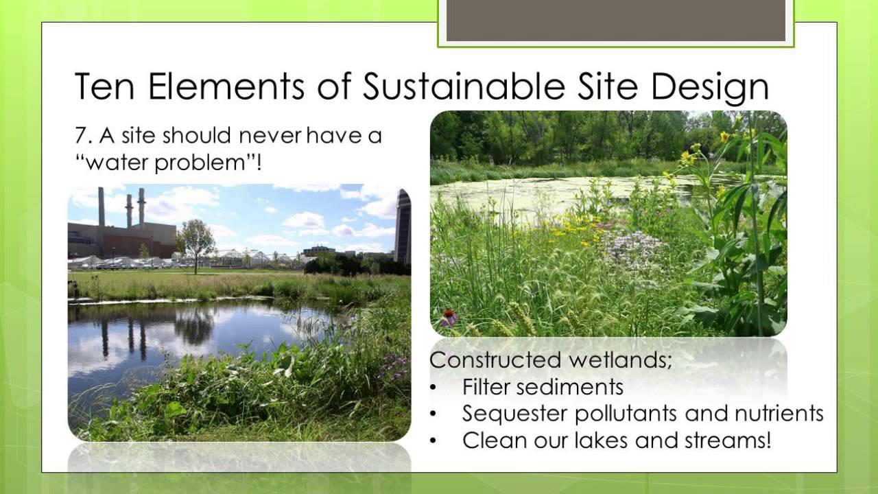 Top ten elements of sustainable landscape design youtube for Sustainable landscape design