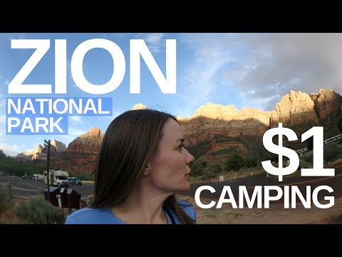 Zion National Park, $1 Camping, Angels Landing Hike