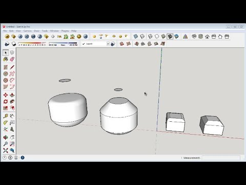 Sketchup Chamfer and Fillet Rounded Edges