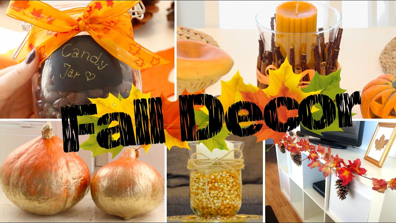 diy fall room decor einfache gem tliche herbst deko f r dein zimmer youtube. Black Bedroom Furniture Sets. Home Design Ideas