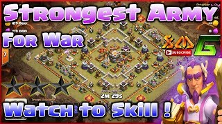 Clash of Clans💪 👉Learn to Skill The Strongest Troop For Attack in War⭐Watch it !