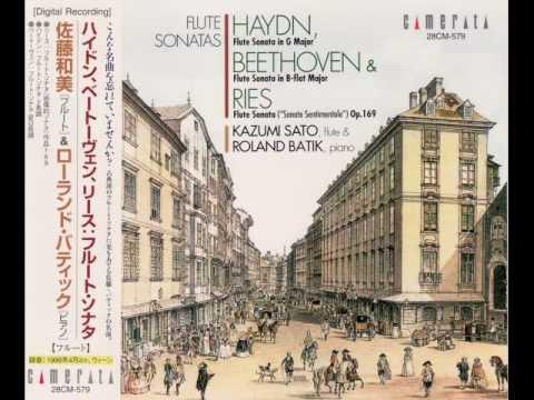 """Ferdinand Ries: Flute Sonata(""""Sonate Sentimentale"""") Op.169 (1st mov.)  - Kazumi Sato"""
