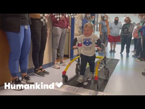 Paralyzed toddler learns to walk again | Humankind