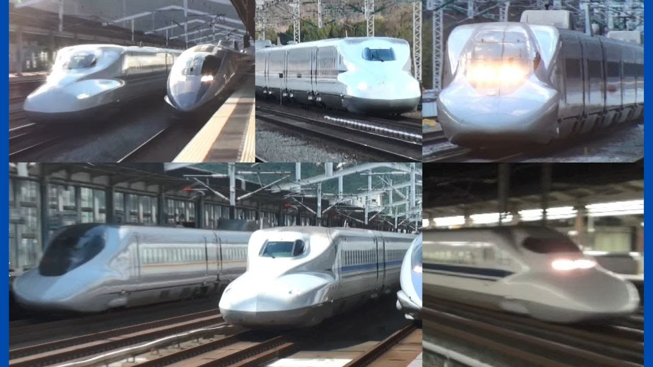 東海道・山陽新幹線 高速通過集(10本) Tokaido Sanyo Shinkansen.Train ...