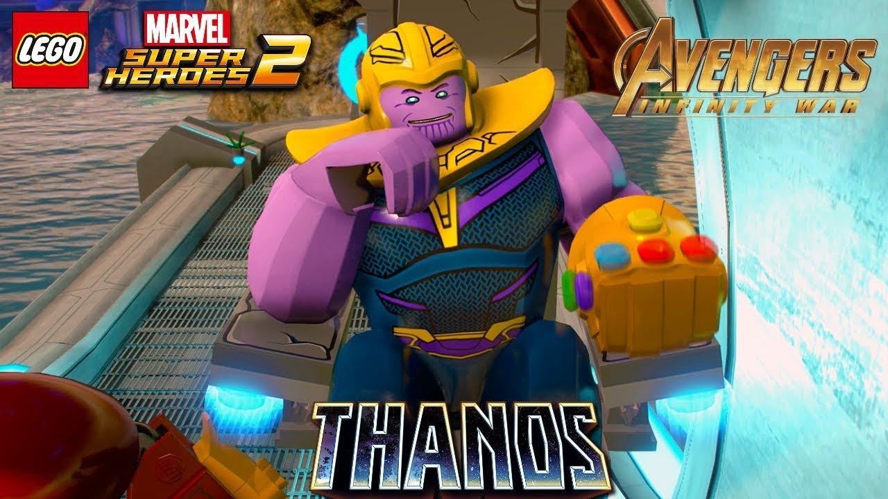 Lego Marvel Superheroes 2 Thanos With Infinity Gauntlet Free Roam Gameplay Avengers Infinity War Youtube