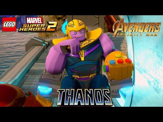 LEGO Marvel Superheroes 2   Thanos with Infinity Gauntlet Free Roam Gameplay (Avengers Infinity War)