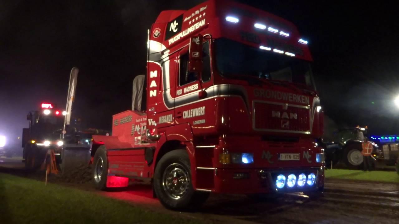 Truckpulling Red-Madness MAN V10 Odijk 2016 pull2