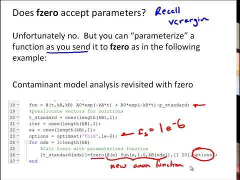 NM3-8 MATLAB fzero Function