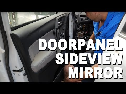 How to change replace install fix repair a sideview mirror & door panel on a 2015 Subaru Forester