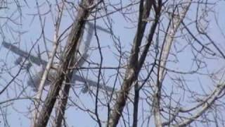 Military Cargo Plane Flying Low