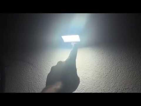 Solar Sensor Leuchte Wand Solarlampe Benuo Led Bewegungsmelder Wasserdicht Unboxing Und Montage Diy