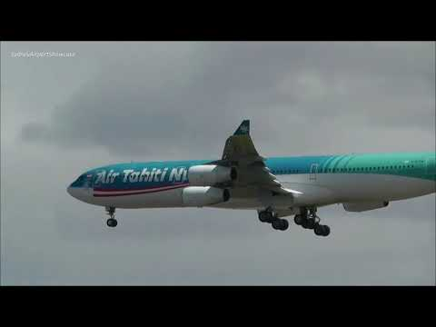 Air Tahiti Nui A340-300 Windy Arrival Sydney Airport