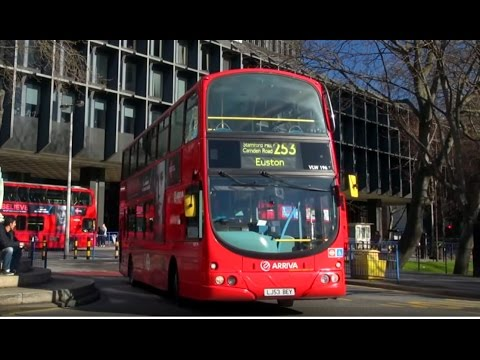 London Buses - Arriva London North 253 from Euston to Hackney Central (whole route)