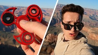 DROPPING A FIDGET SPINNER INTO THE GRAND CANYON! (Hand Spinners)