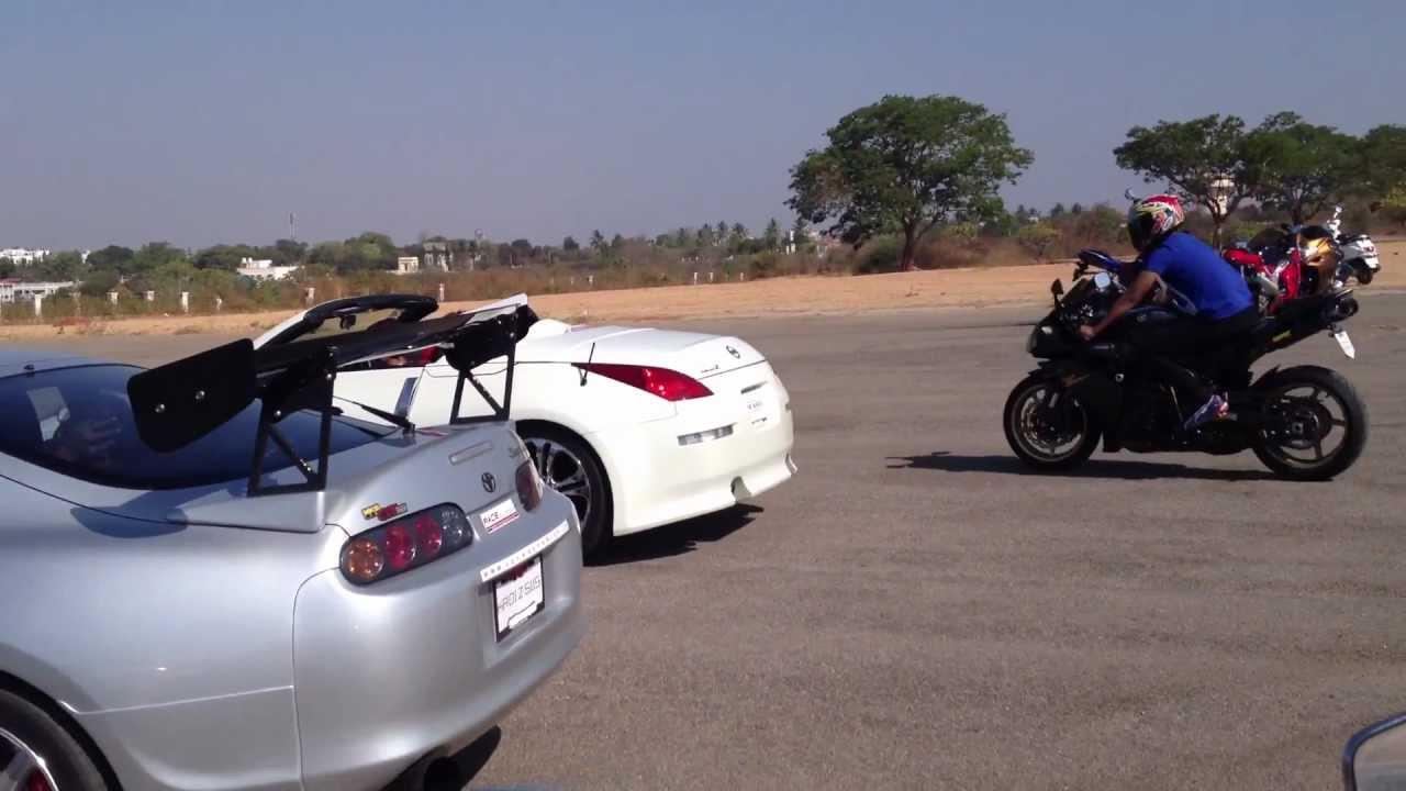 super cars and bikes at mysore helipad - youtube