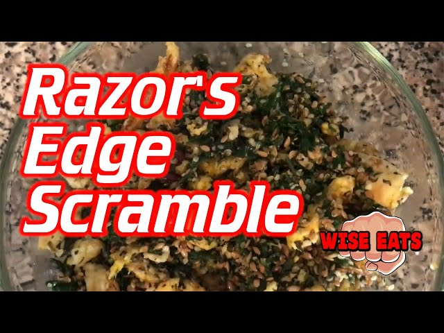 Razor's Edge Scramble - Wise Eats - Healthy Scrambled Eggs with Leafy Greens & Super Foods!