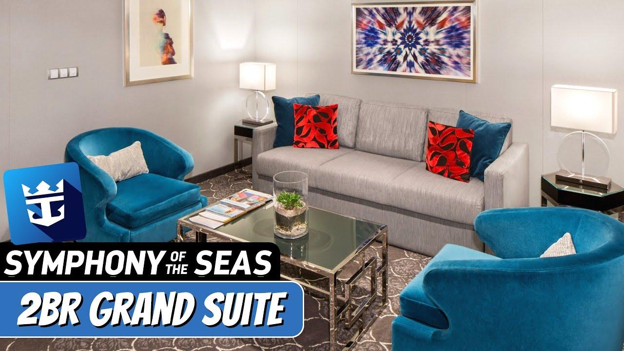 Royal Caribbean Symphony Of The Seas 2 Bedroom Grand Suite Full Walkthrough Tour Review 4k Youtube