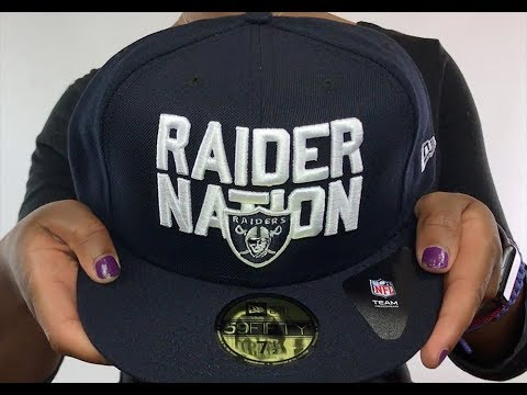 Raiders  RAIDER-NATION  Navy-White Fitted Hat by New Era - YouTube 5b19f37ce