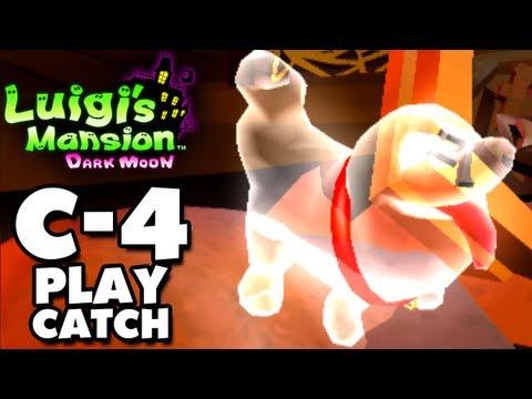 Luigi's Mansion Dark Moon - Old Clockworks - C-4 Play Catch (Nintendo 3DS Gameplay Walkthrough)