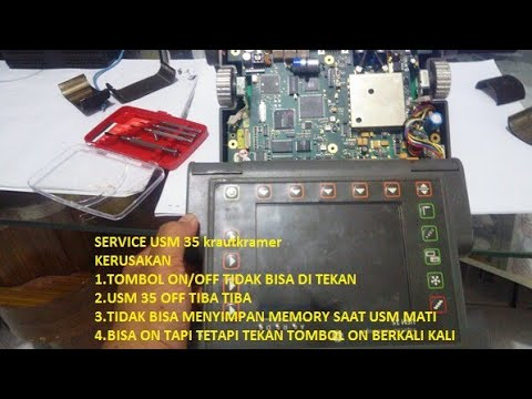 SERVICE Krautkramer USM-35 Ultrasonic Flaw Detector