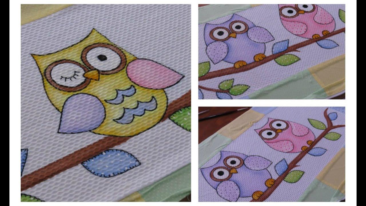 Pintura em tecido 3 formas f ceis de pintar corujinhas - Maneras de pintar ...