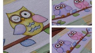 Pintura em tecido: 3 formas fáceis de pintar corujinhas country