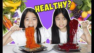 HEALTHY FOOD VS TASTY FOOD CHALLENGE!   Tran Twins
