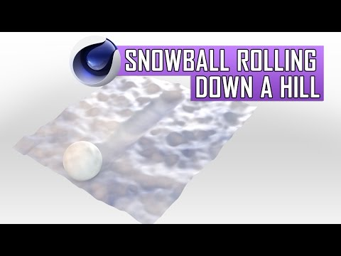 Cinema 4D Tutorial: Snowball Rolling Down a Hill