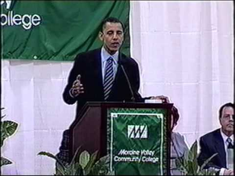 U.S. Senator Barack Obama and Illinois State Senate President Emil Jones, Jr. visit MVCC