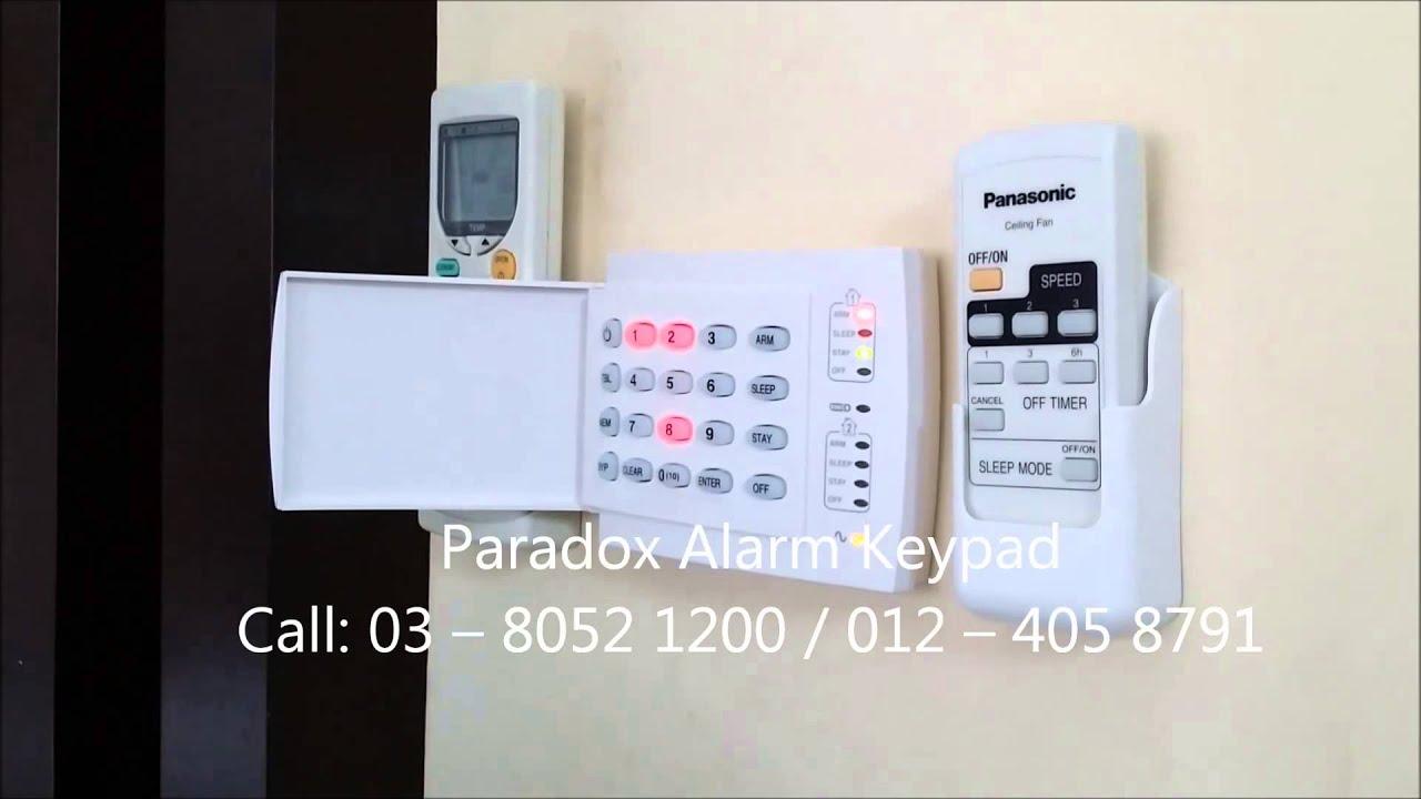 how to change an alarm key pad