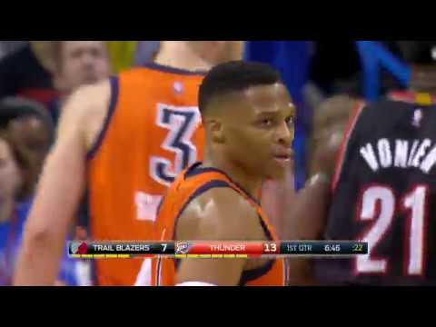 Russell Westbrook Scores 19 of His 42 points in the Fourth Quarter in Thunder Win | 02.05.17