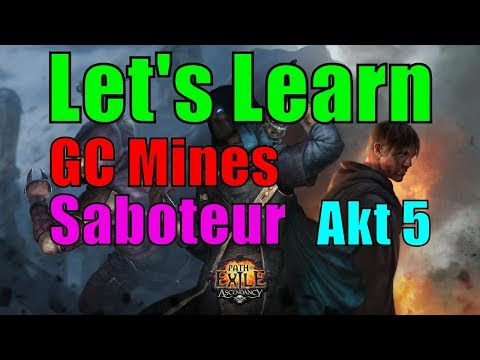 [3.0 HHC] #06 Akt 5 - Glacial Cascade Mines Sabo - Let's Learn - Path of Exile - Harbinger [german]