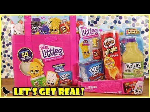 Shopkins Real Littles Lil Shopper Pack & Collector's Case Unboxing! | Birdew Reviews