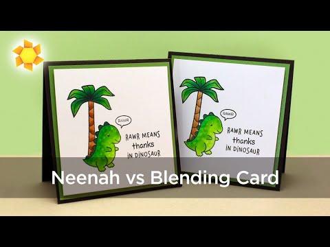 RAWR! Neenah vs Blending Card