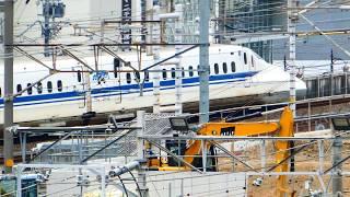 名古屋駅を発車した東海道新幹線N700系 2020.4.12