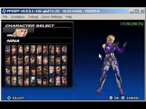 tekken 6 psp characters