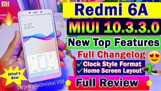 Redmi 6A New MIUI 10.3.3.0 Stable Update Full Review   Top Hidden Features   Clock Style, Dark Mode?