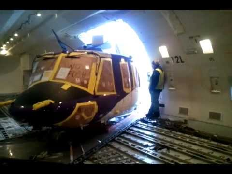 Helicopter Inside A Plane