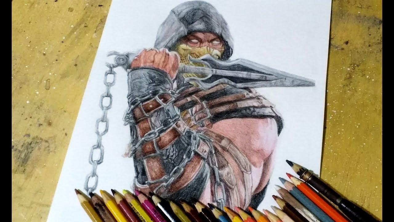 Drawing Scorpion Mortal Kombat 11 Youtube