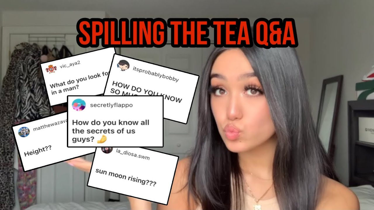 Download SPILLING THE TEA Q&A: get to know me :)