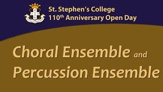 Choral Ensemble and Percussion Ensemble 3/11 16:30
