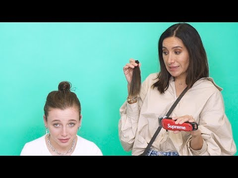 I CUT EMMA CHAMBERLAIN'S HAIR (AND MADE HER CRY?)