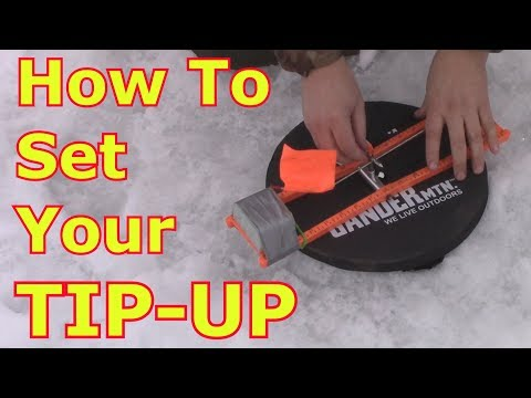 ICE FISHING With TIP-UPS - Adjusting The Trip Setting
