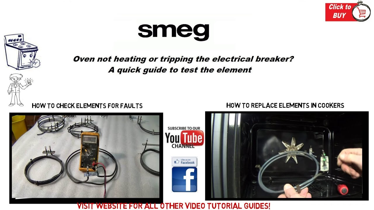 hight resolution of smeg oven is not heating or tripping the electrical breaker possible element fault