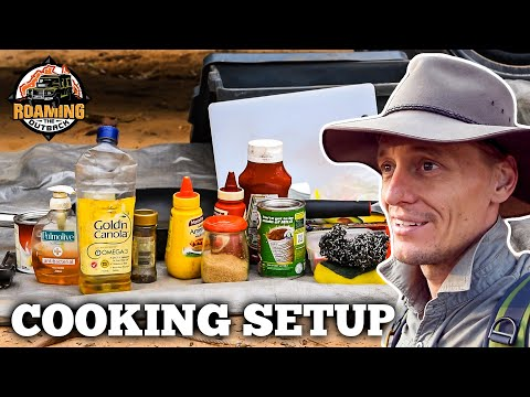 Defender Travel Cooking Setup and Food Storage