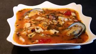 Итальянский суп с морепродуктами (Чиопино).