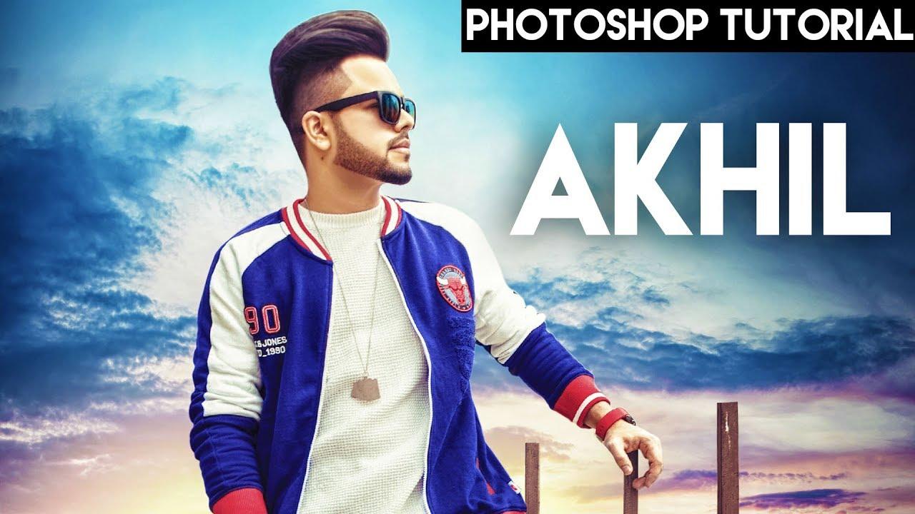 poster design akhil song bollywood photoshop cc simarvfx youtube